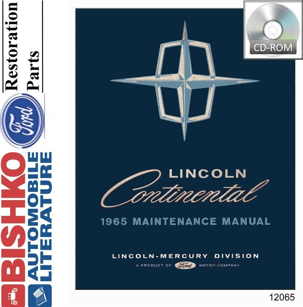 1965 Lincoln Service Repair Shop Manual DVD OEM 1 of 1Only 1 available ...