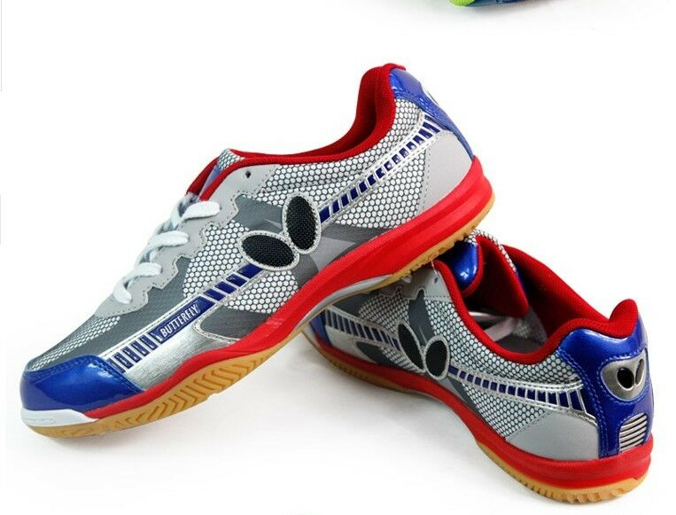 Erfly Ping Pong Table Tennis Shoes Trainers Utop 6 Red Blue 1 Of 4