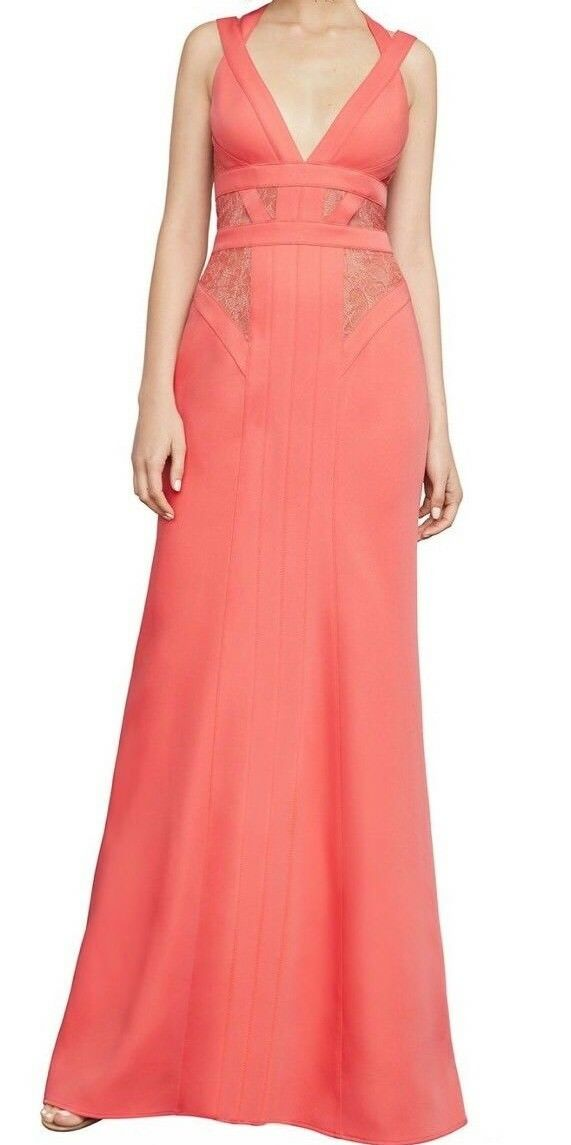NEW WITH TAG $448 Bcbg Max Azria Reese Lace-Insert Gown Xvr66L28 ...