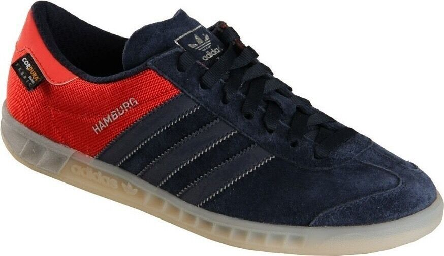 reputable site e8c6c 92e87 Adidas Hamburg ++++ RARE++++ Navy  Red Halfshoe 10 NEW samba spezial trimm  1 of 10Only 3 available ...