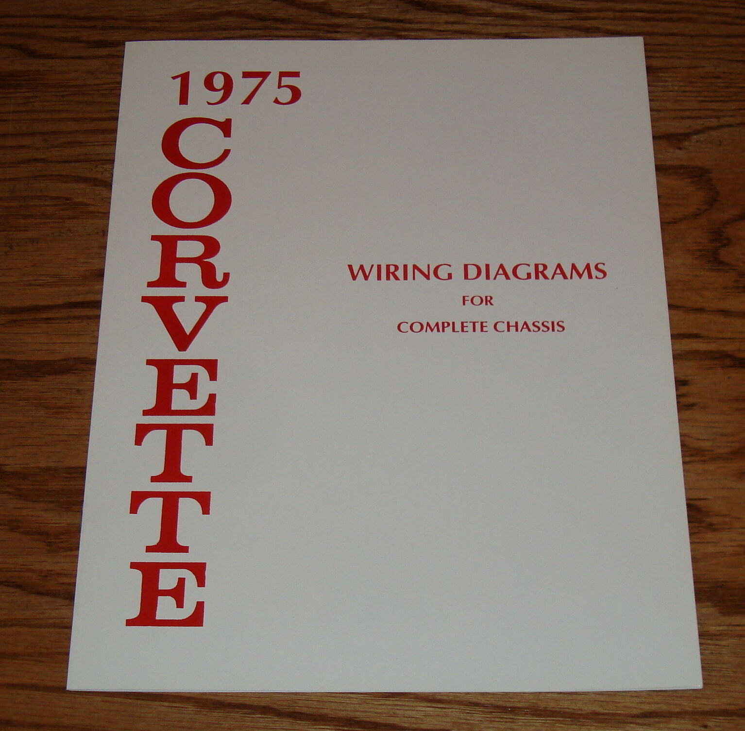 1975 Chevrolet Corvette Wiring Diagram Manual For Complete Chassis 75 Chevy 1 Of 1only 2 Available