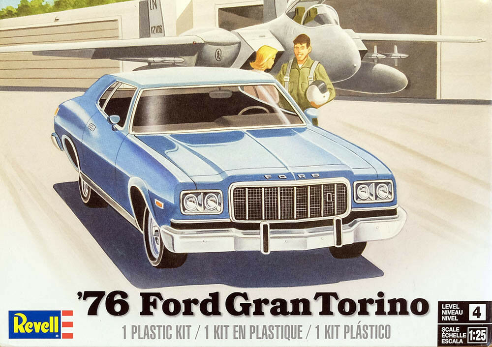 1976 ford gran torino 1 25 model kit bausatz revell 4412. Black Bedroom Furniture Sets. Home Design Ideas