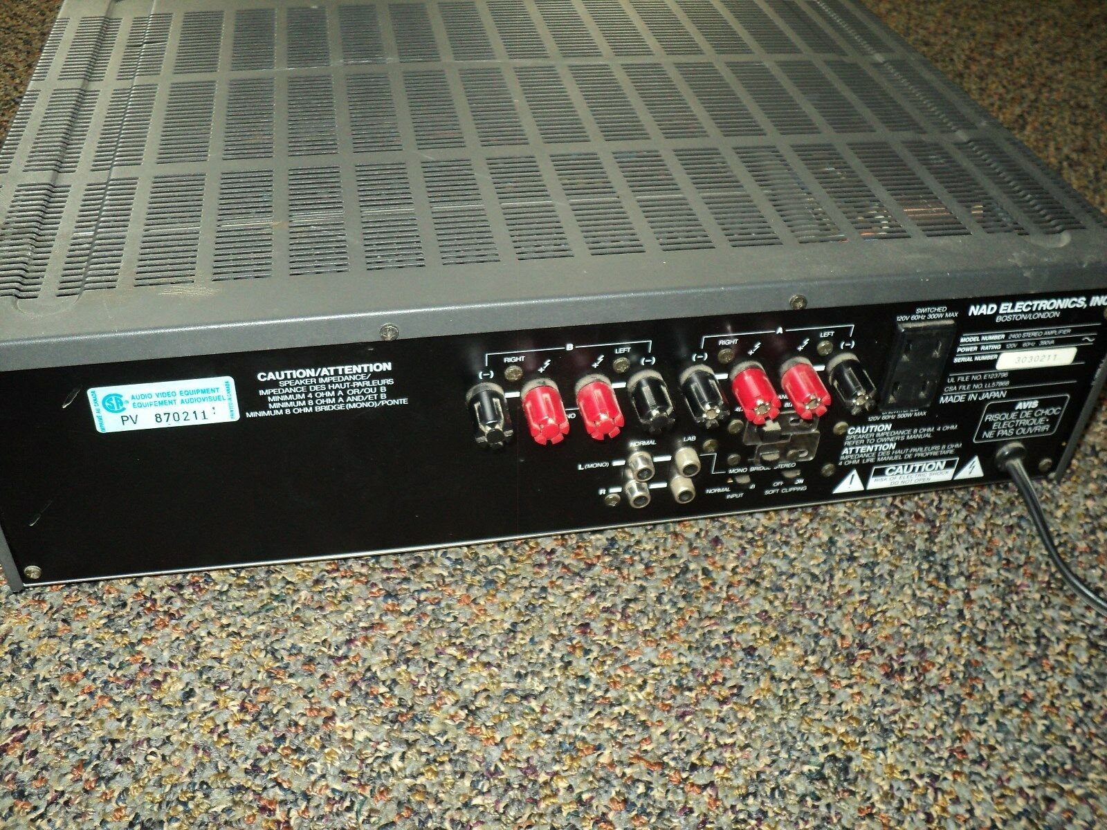 Monitor Series Power Amplifier 2400 Lucasfilm Thx Audio 2 Channel 200 Watts Super Bridge Amplifiers 1 Of 3only Available