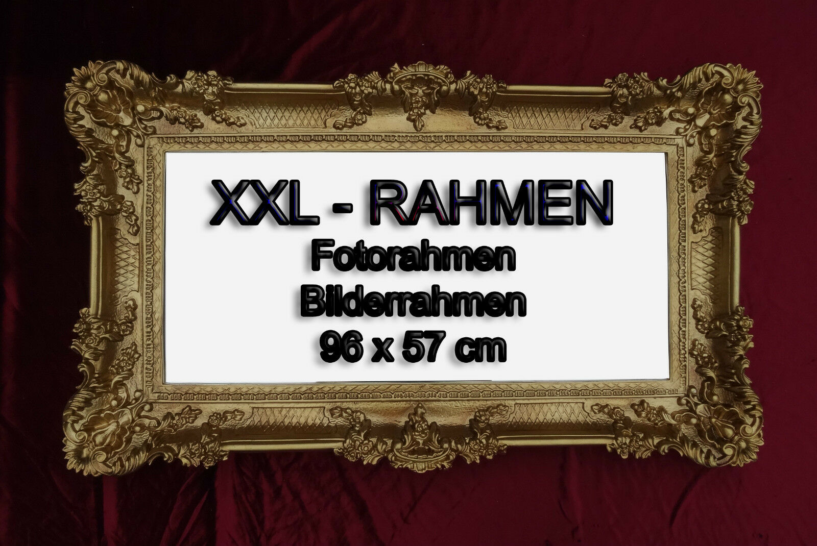 WEDDING FRAME WITH Glass Photo Picture Baroque Antique 96x57 ...
