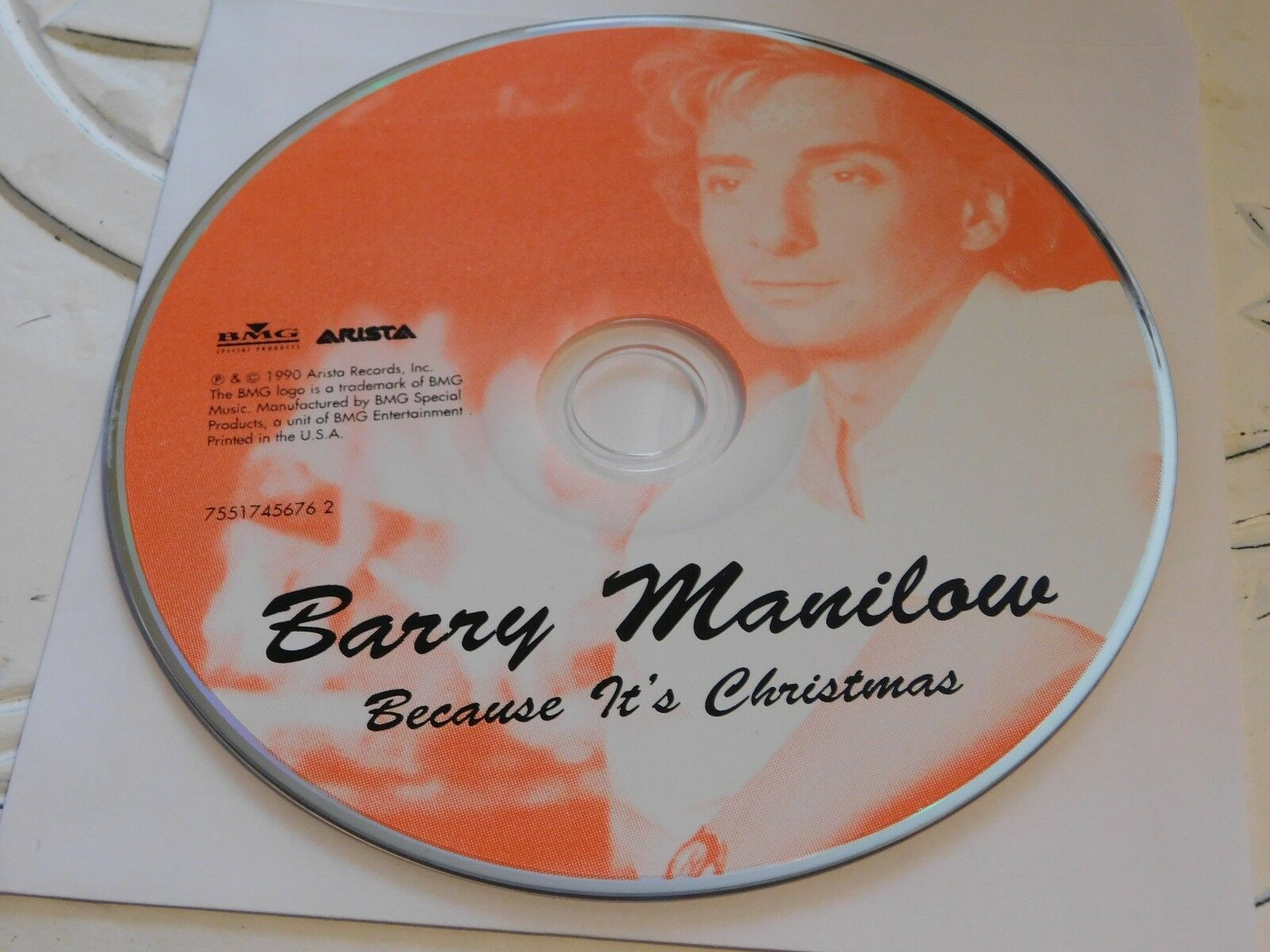 BECAUSE IT\'S Christmas by Barry Manilow (CD, 2000)Disc Only 35-179 ...