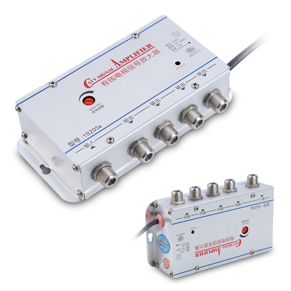Home 4 Way Output Catv Cable Tv Antenna Signal Amplifier Amp Booster Trouble With Using Vcr And Splitter 1 Of 8free Shipping See More