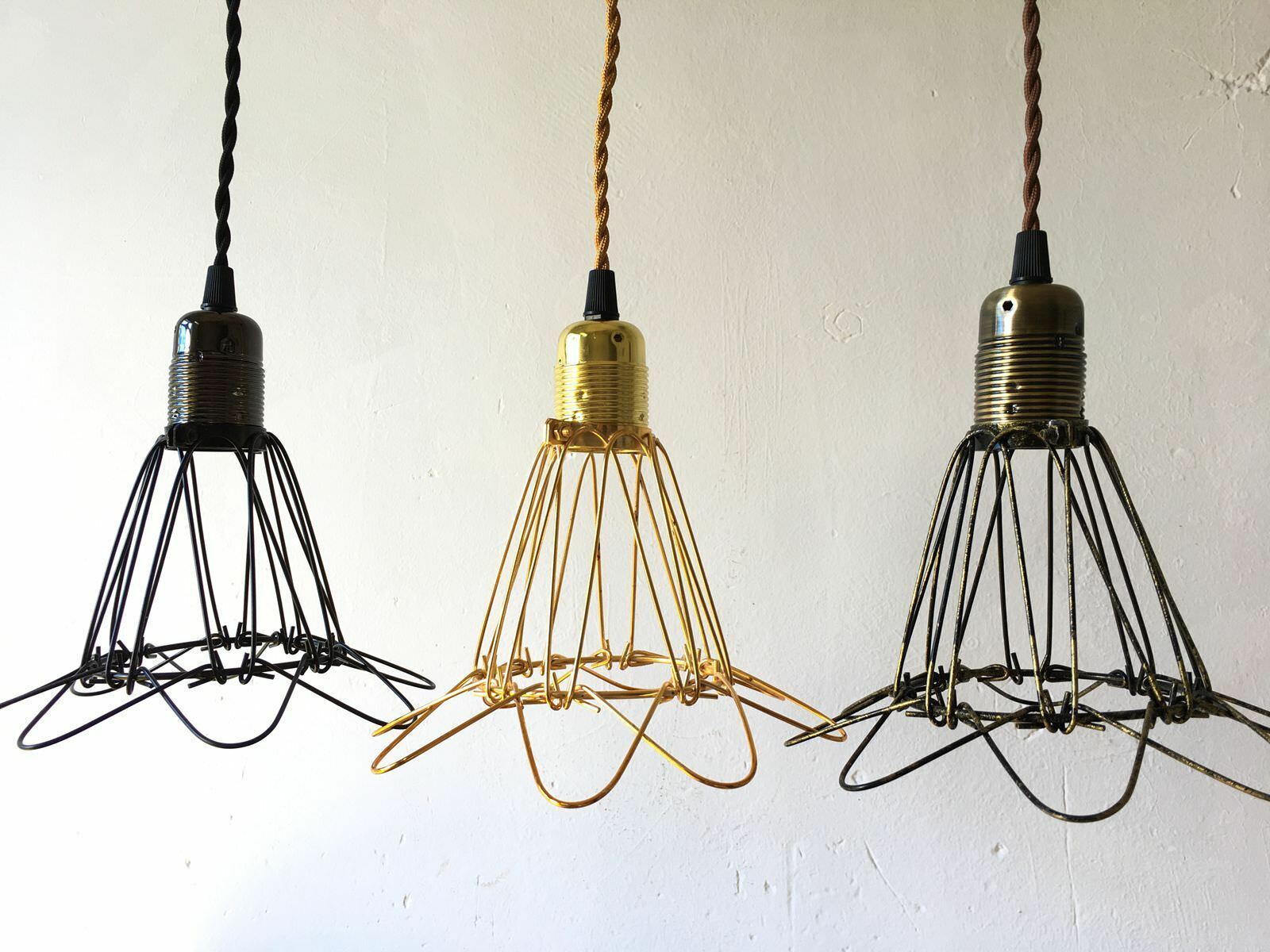 Vintage industrial metal wire cage hanging lamp shade pendant light vintage industrial metal wire cage hanging lamp shade pendant light chandelier 1 of 3free shipping greentooth Image collections