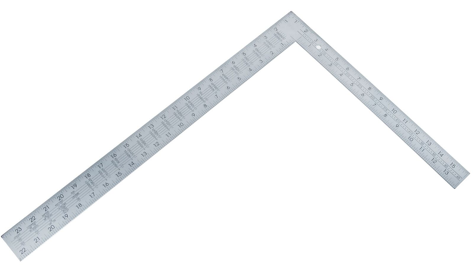 BLUESPOT LARGE STEEL Roofing Square Framing Carpenter Measure Metric ...