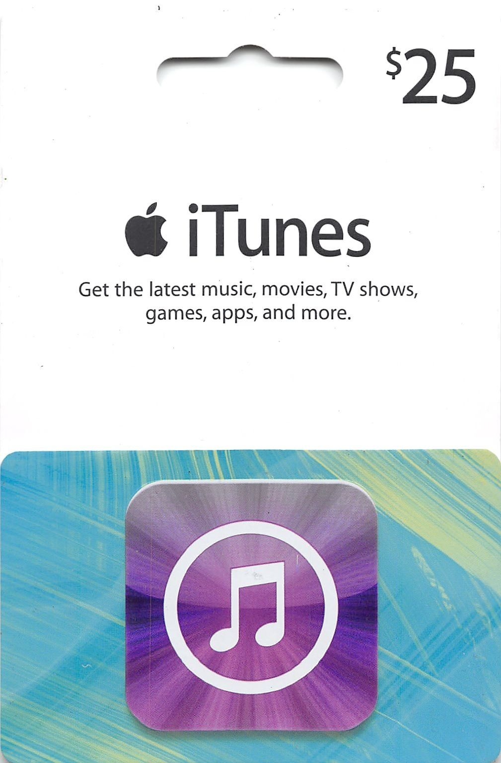 25 Us Apple Itunes Gift Card Certificate Voucher American Usa