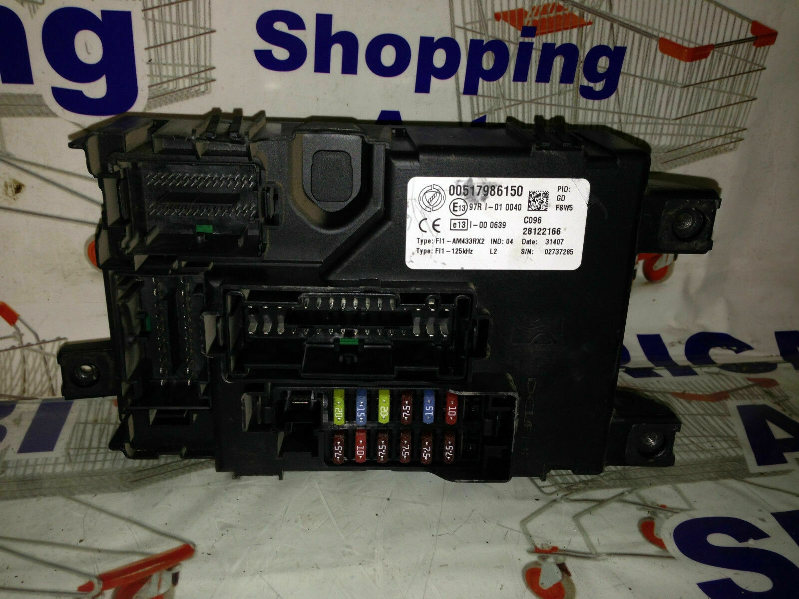 Tag Fiat Grande Punto 2007 Radio Fuse Box Glove Compartment Body Computer Holders 13 90cv Code 00517986150 1 Of 1only Available