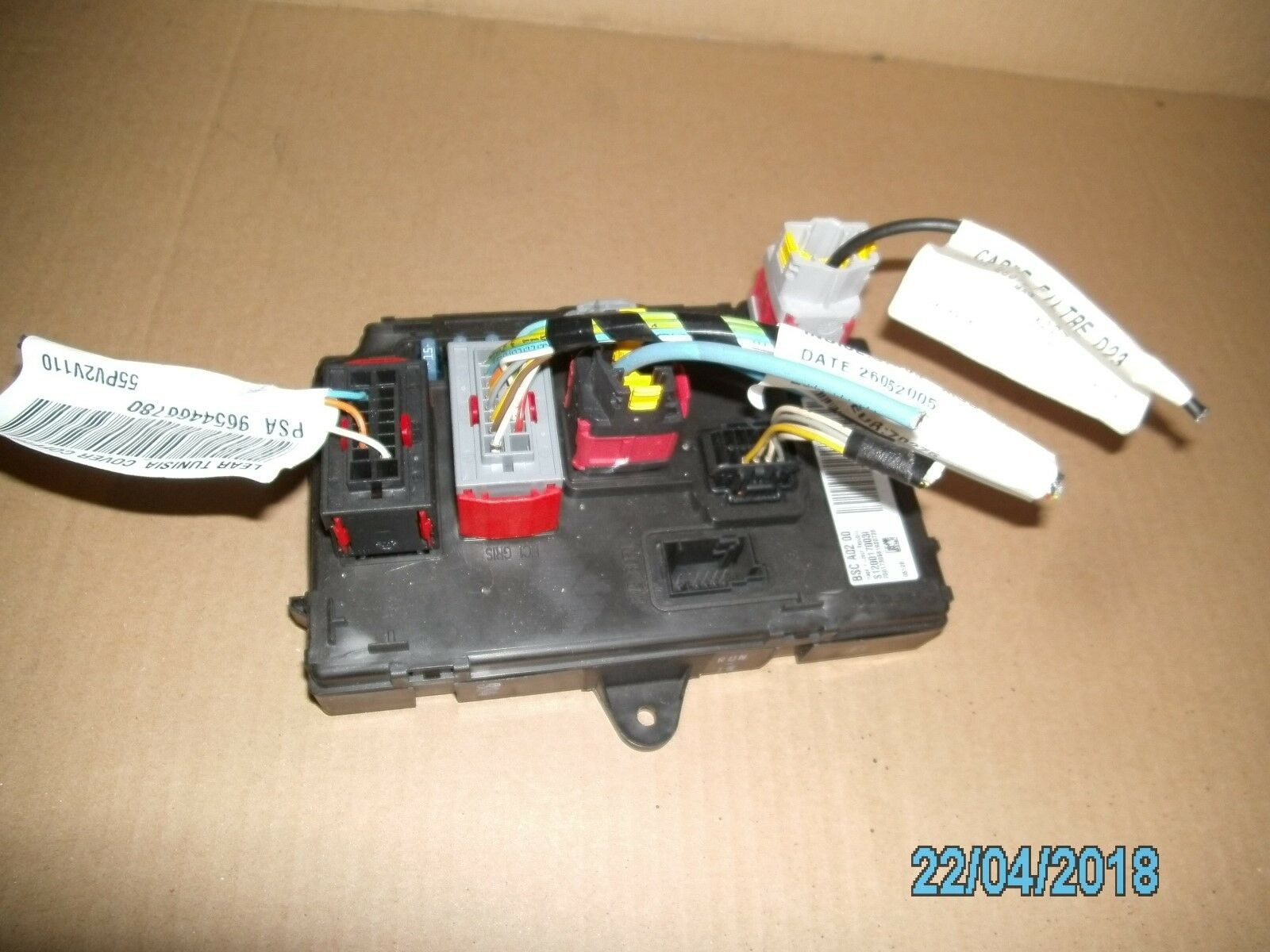 Peugeot Rear Boot Fuse Box Control 9656148080 Breaking 407 Saloon 06 Knnd Blue 1 Of 1free Shipping
