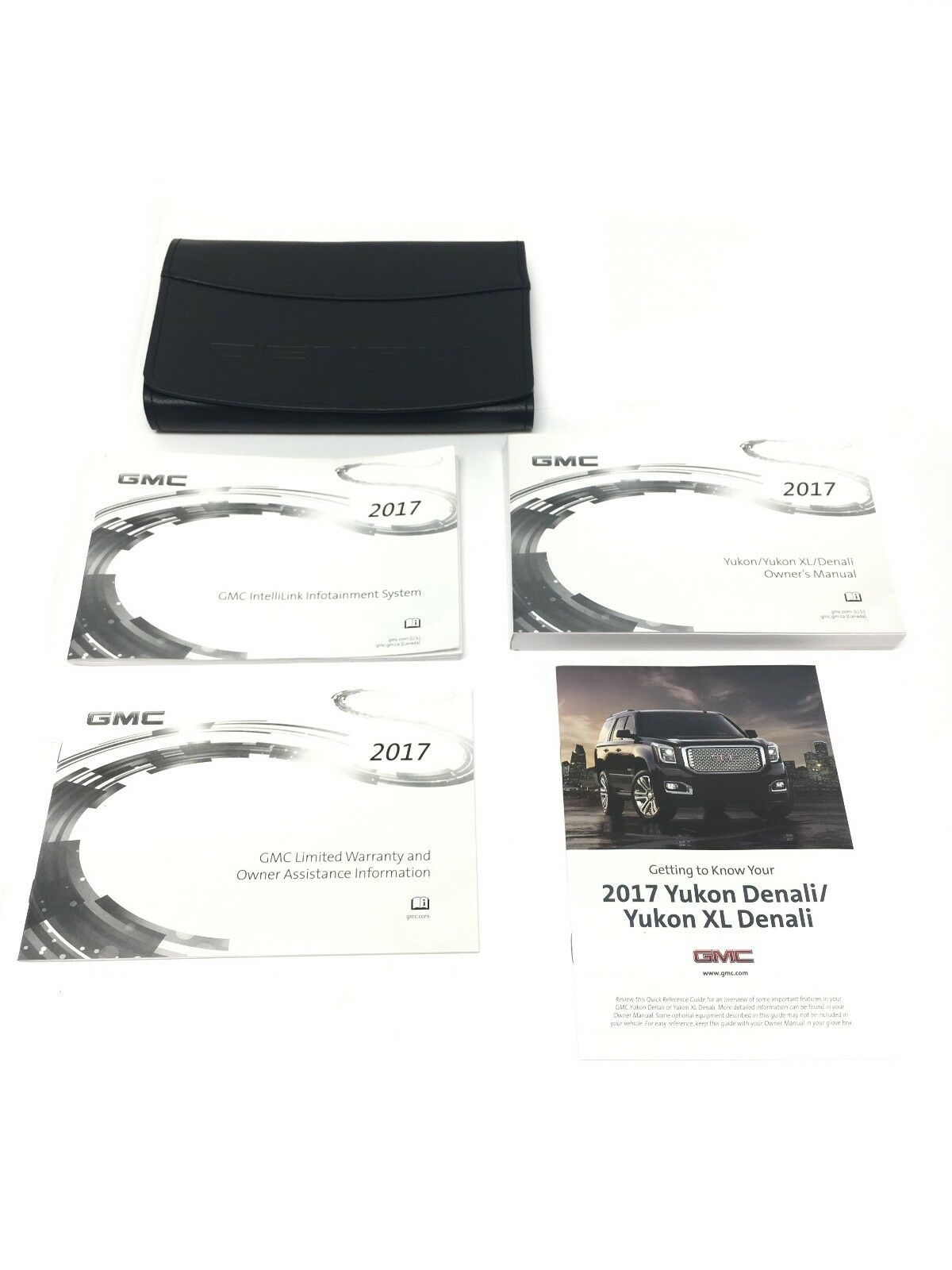 2017 gmc yukon denali owners manual booklet w leather case new oem rh picclick com 1998 GMC Yukon Denali 2002 GMC Yukon Denali
