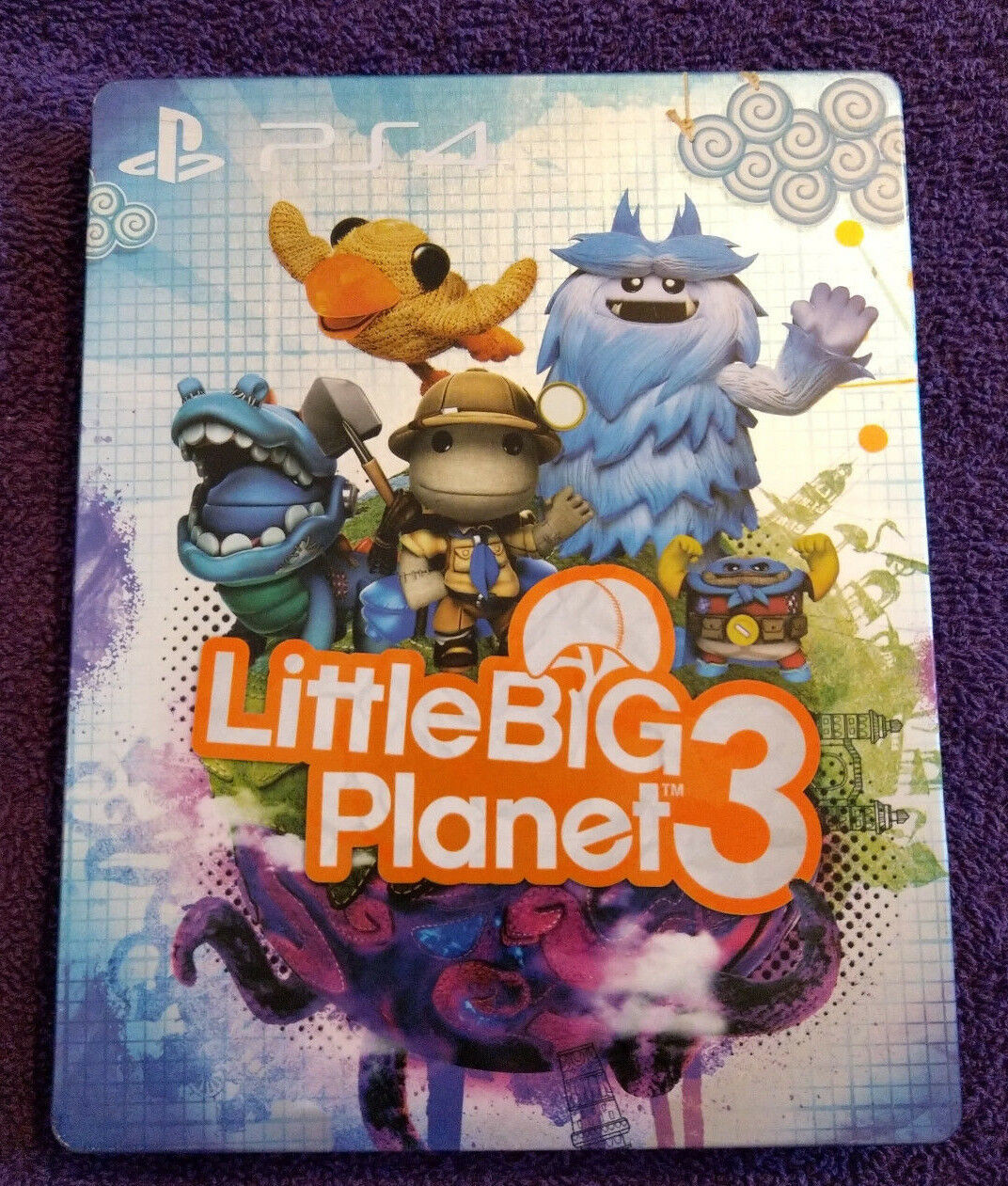 Little Big Planet 3 Steelbook Playstation 4 Ps4 No Game 1 Of 3free Shipping