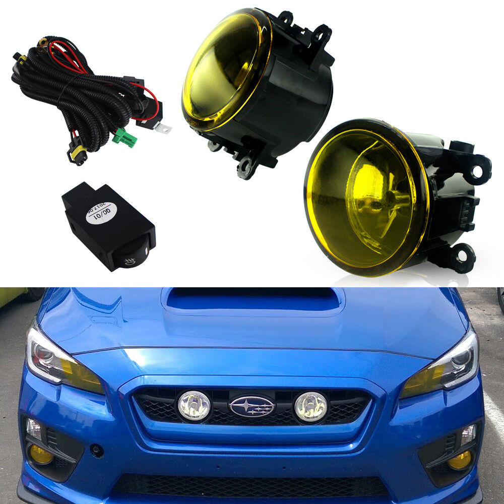 Golden Yellow Fog Lights W Bulbs Switch Harness Kit For 2015 2017 Universal Light Wiring Ebay 1 Of 12only Available