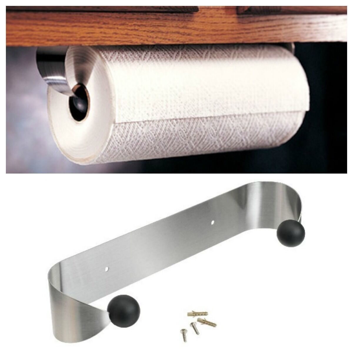 Prodyne Stainless Steel Paper Towel Holder Rack Wall Mount Or Under Cabinet 1 Of 8only 0 Available