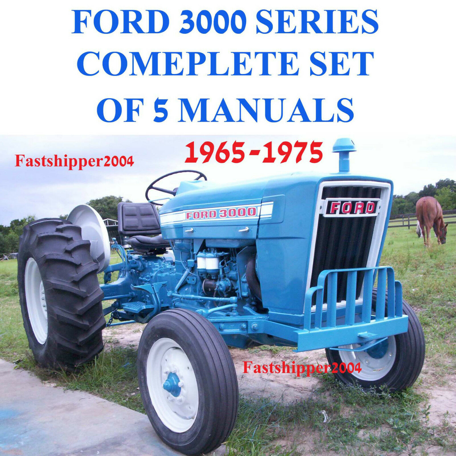ford 3000 series tractor service parts catalog owners manual 5 rh picclick com ford 3000 tractor owners manual pdf ford 3000 tractor service manual download