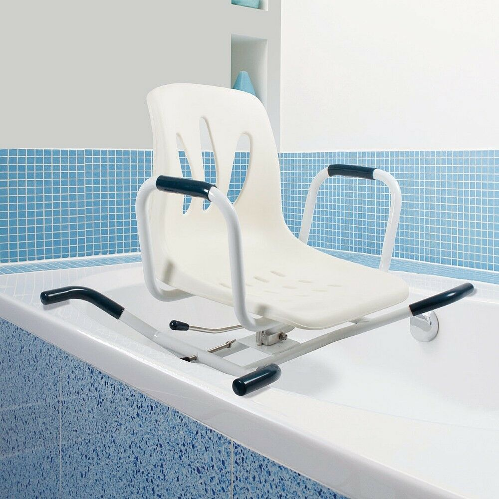 SWIVELLING BATHER ROTATING Swivel Bath Seat Shower Chair Transfer ...