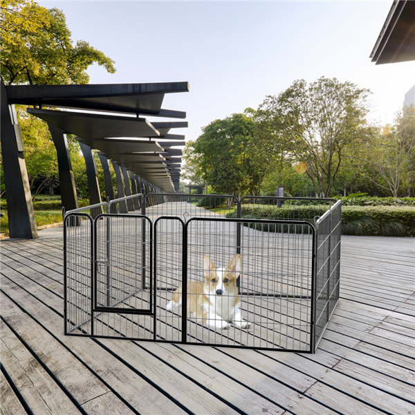 8 PANEL PET Playpen Puppy Dog Cat Rabbit Portable Cage Run Pen ...