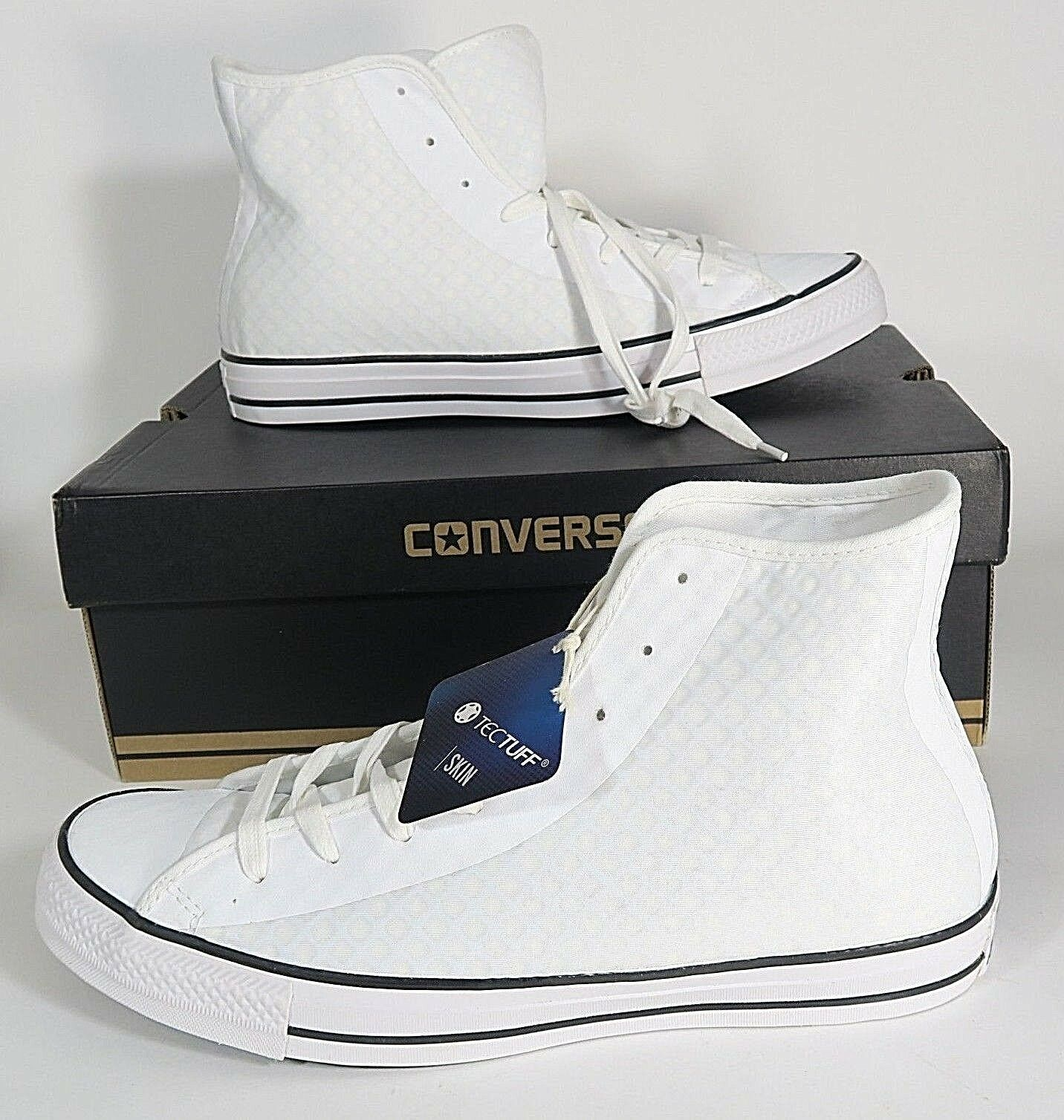 3f44137015bc Converse All Star Hi Fuse Shoes White Black Tectuff 154906C Mens Size 9.5 1  of 8Only 1 available ...