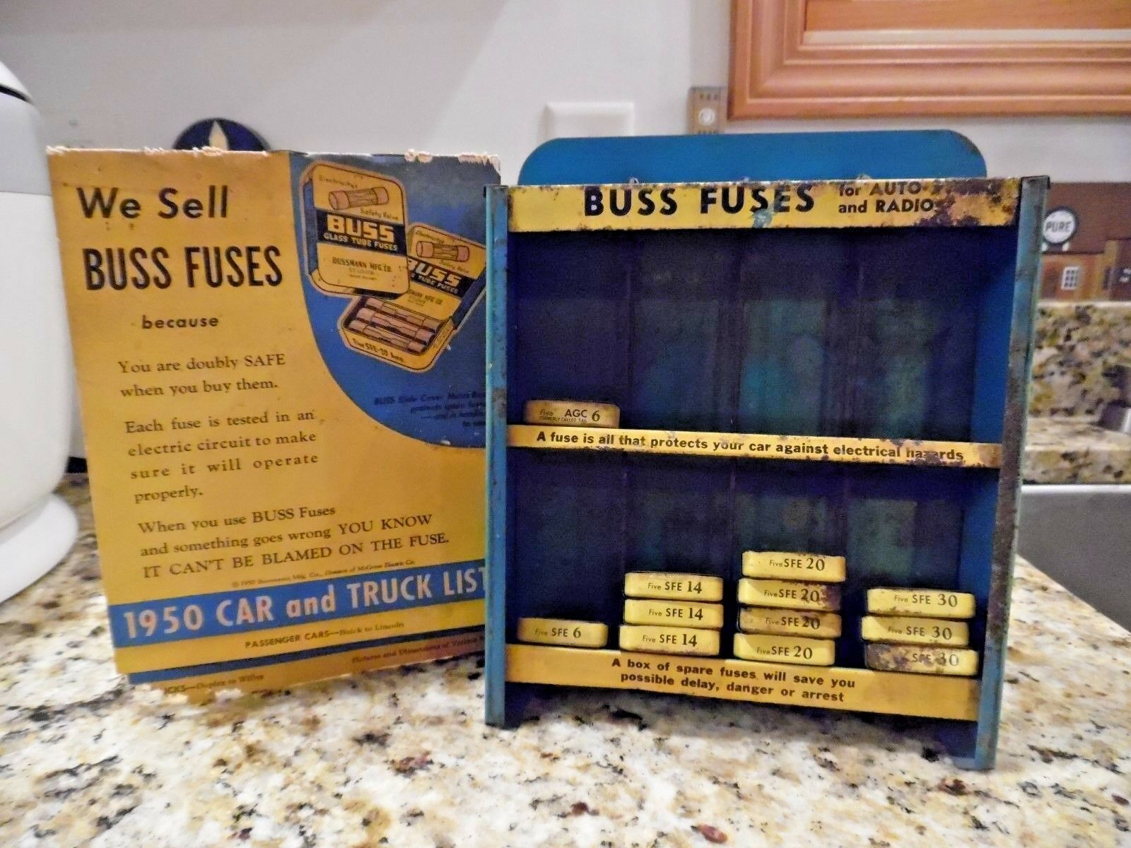 Vintage Metal Buss Fuses Display And 1950 Car Truck List Fuse Boxes From The 1 Of 12 See More