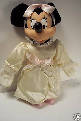 VINTAGE PLUSH MINNIE Mouse in Wedding Dress Toy - $18.75   PicClick