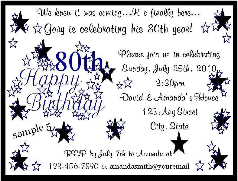 Sample Birthday Invitation Wording For Adults | putput.info