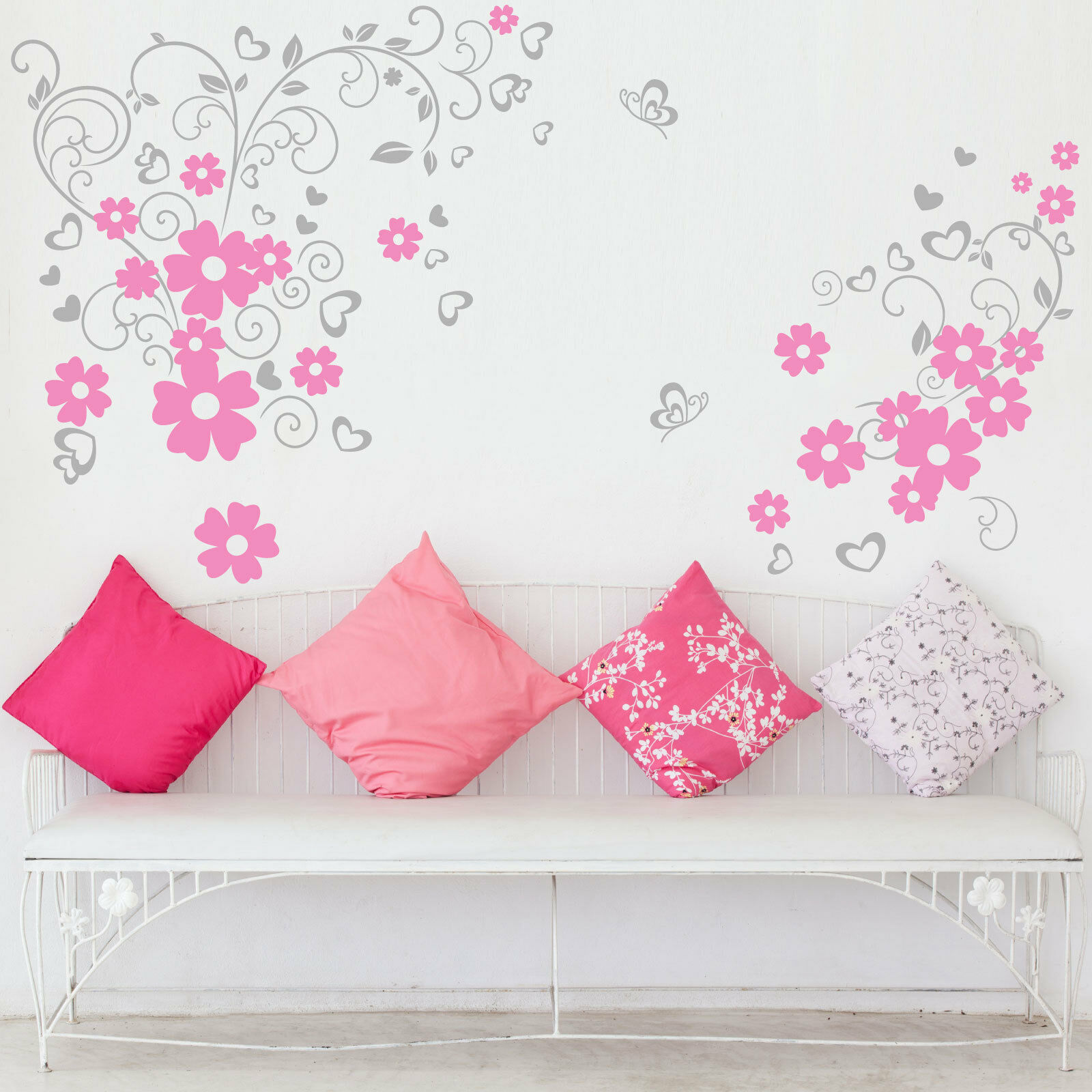 Butterfly Flower Art Wall Stickers Wall Decals