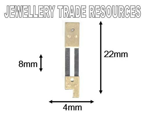 CLOCK SUSPENSION SPRING TOP QUALITY STEEL BRASS 22 x4mm