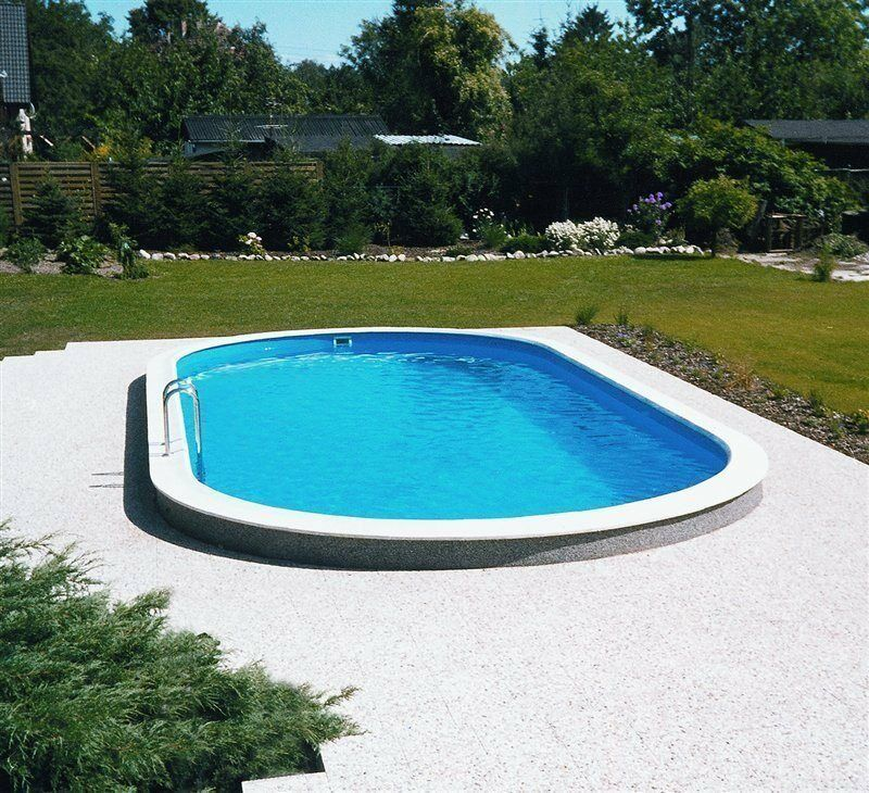 Pool set stahlwand oval 3 5x7x1 20m schwimmbecken 0 6 mm for Stahl pool oval