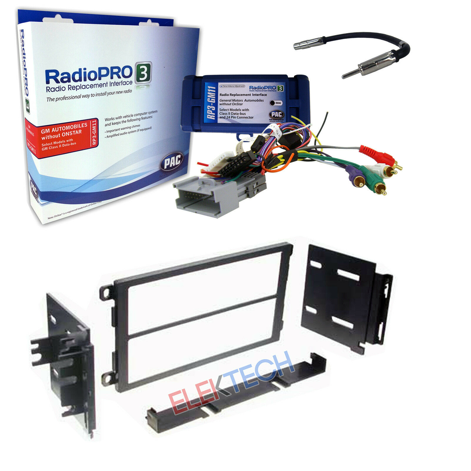 Radio Replacement Interface Car Dash Install Kit radio replacement interface & car dash install kit for no onstar gmc