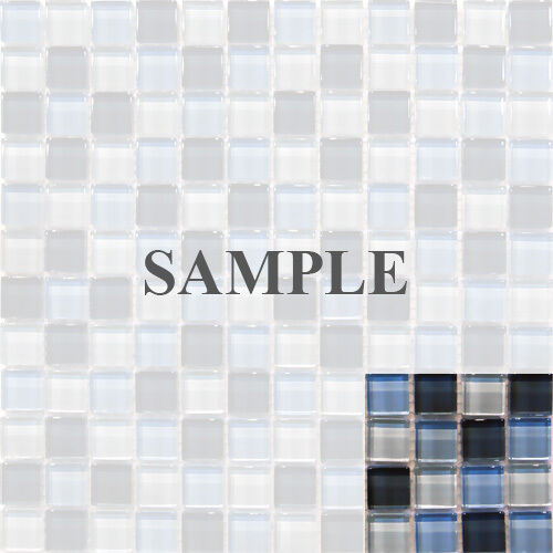 SAMPLE- BLUE CRYSTAL Glass Mosaic Tile Kitchen Backsplash Bath Wall ...