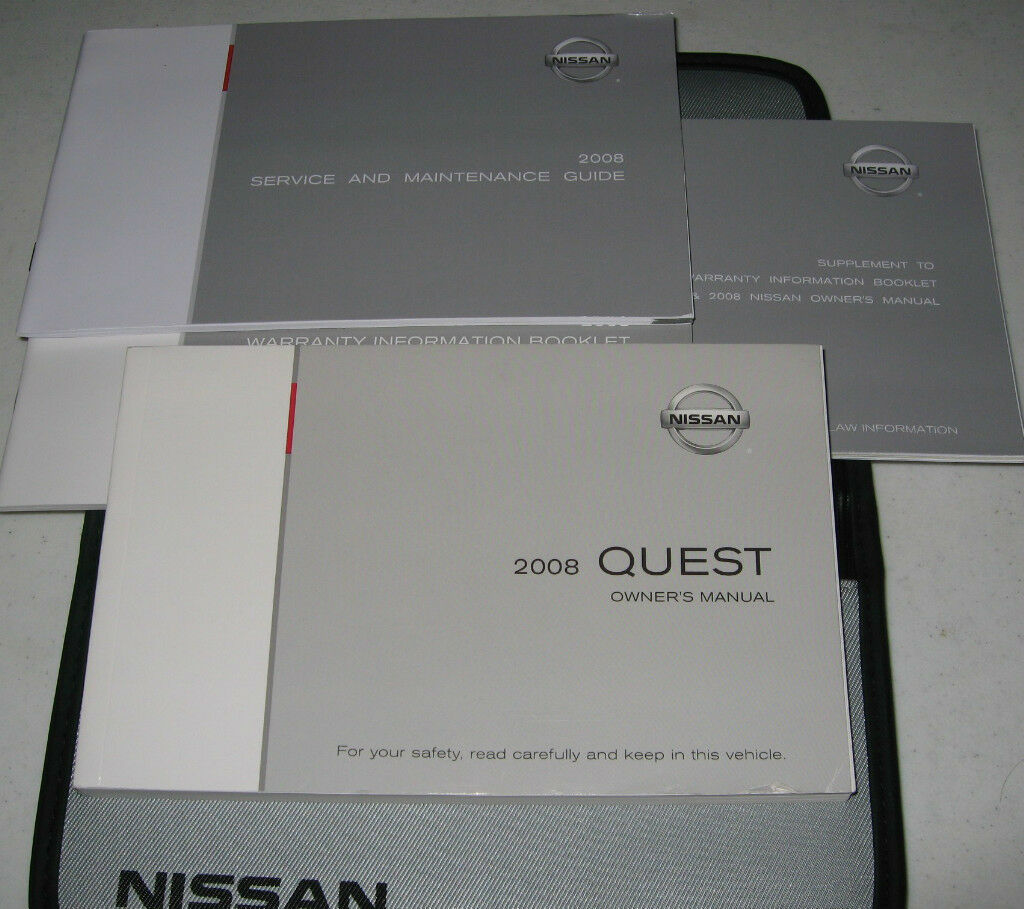 2008 NISSAN QUEST OWNERS MANUAL SET 08 w/case 1 of 1Only 1 available ...
