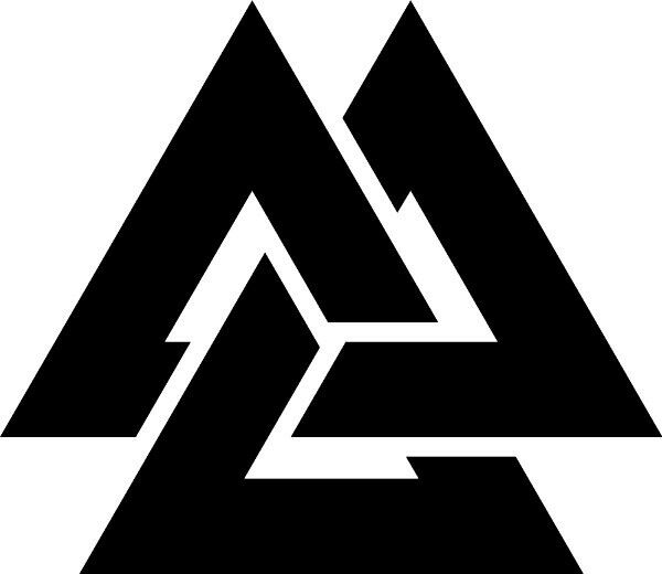 Viking Valknut rune symbol Vinyl die cut decal sticker