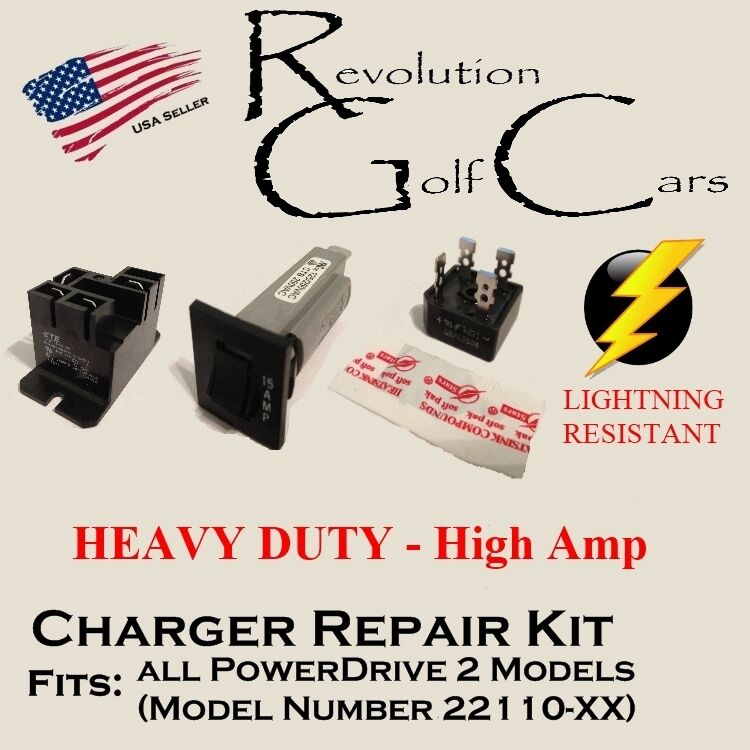 battery charger repair kit for club car 48 volt powerdrive2 22110 rh picclick com