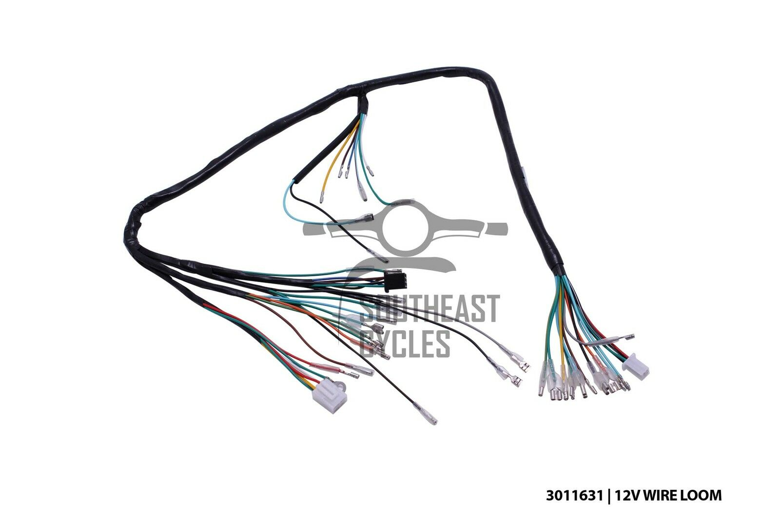 12v complete wire harness loom for honda cub c50  c70