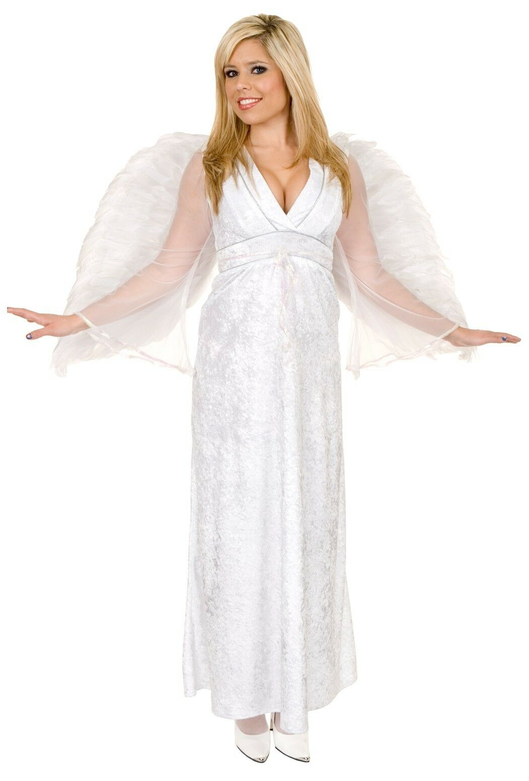 angel baby white gown christmas dress up halloween sexy adult costume - Christmas Dress Up