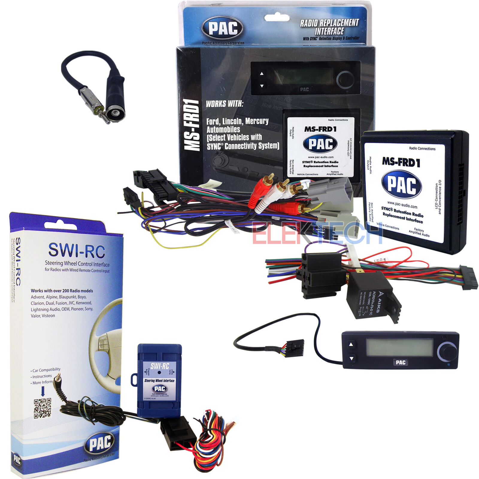 Radio Replacement Adapter Steering Wheel Control W Sync Retention Swi Rc Wiring Diagram Kia 1 Of 1only Available