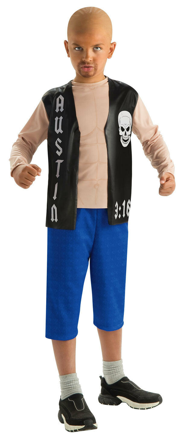 stone cold steve austin wwe wrestling fancy dress up halloween child costume 1 of 1 see more