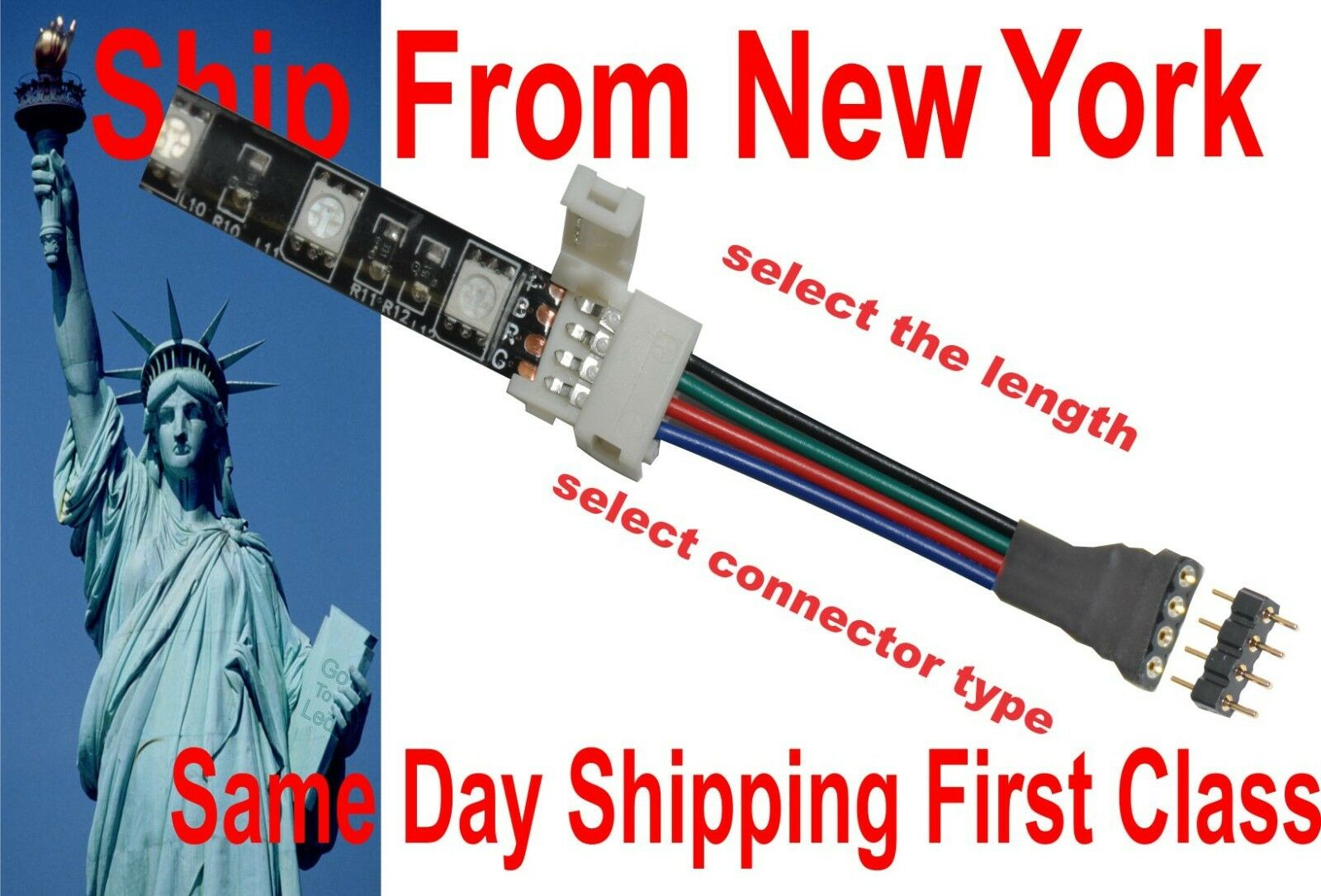 Promo Connector Led Strip 5050 Kabel Update 2018 Amedee Blouse Wanita Abf01818bk Hitam M Rgb Wire Cable Extension Any Feet Solderless 1 Of 11free Shipping