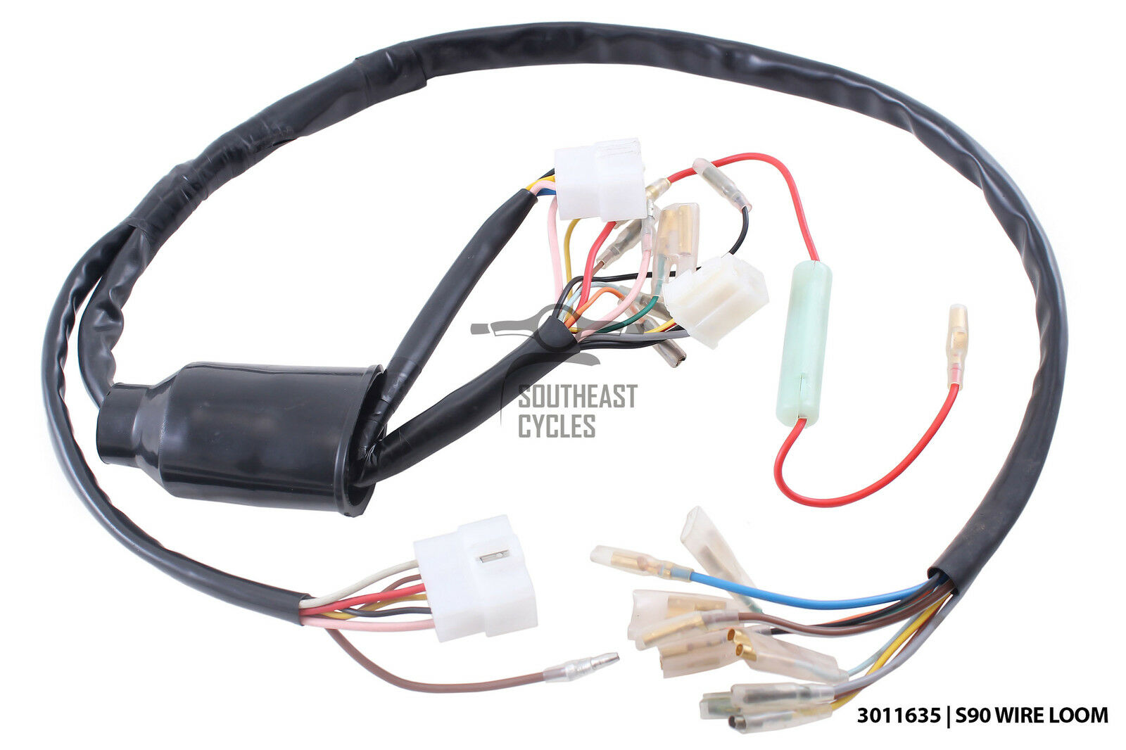Complete wire harness for Honda S90 (6 wire ignition switch) 1 of 1 See More