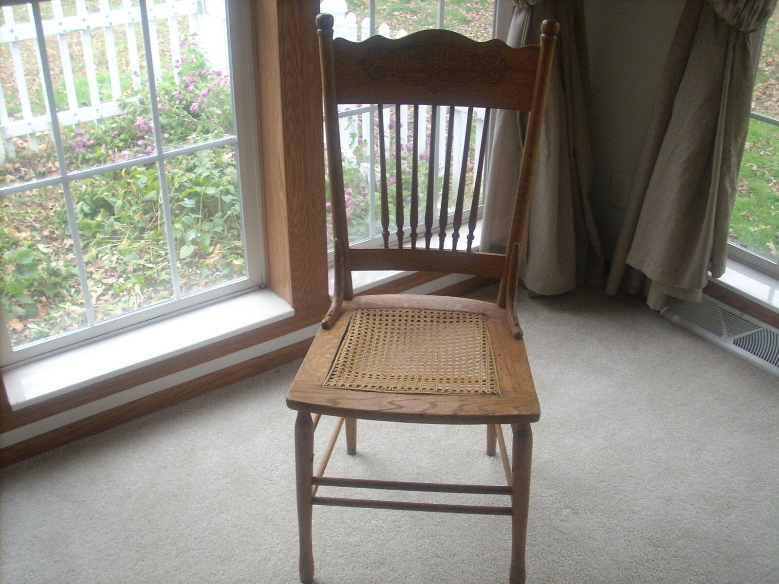 Pin Antique Wooden Chairs Cane Seat On Pinterest
