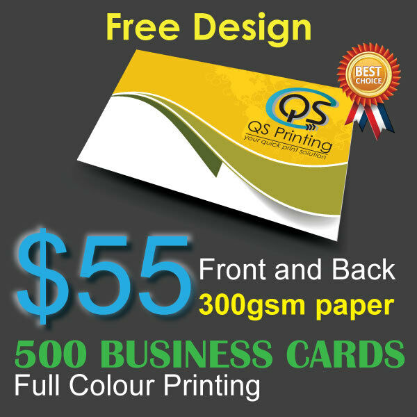 500 Business Cards Full Colour Printing Front Back On