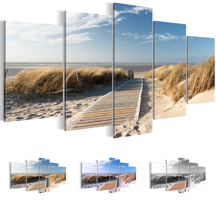 leinwand bilder bild xxl kunstdruck strand meer landschaft. Black Bedroom Furniture Sets. Home Design Ideas
