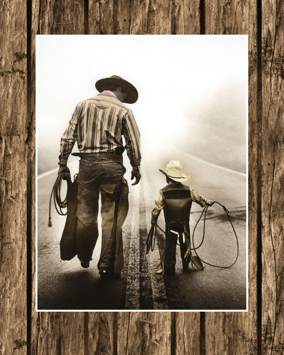 Western cowboy paintings art for Cowboy wall mural