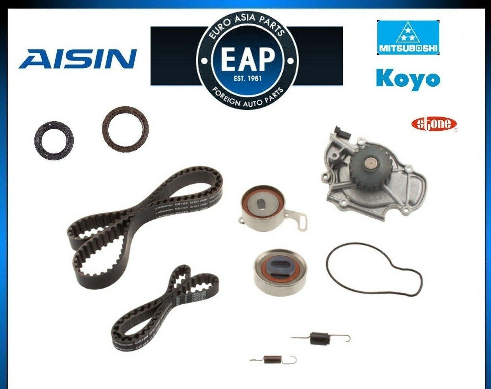 For Honda Accord Odyssey Prelude Aisin Oem Timing Belt Water Pump 1992 Balancer 1 Of 1free Shipping