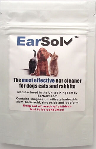 EarSolv Dog Ear Cleaner For Dog Ear Mites In Dogs Cats and Rabbits (Sachet)