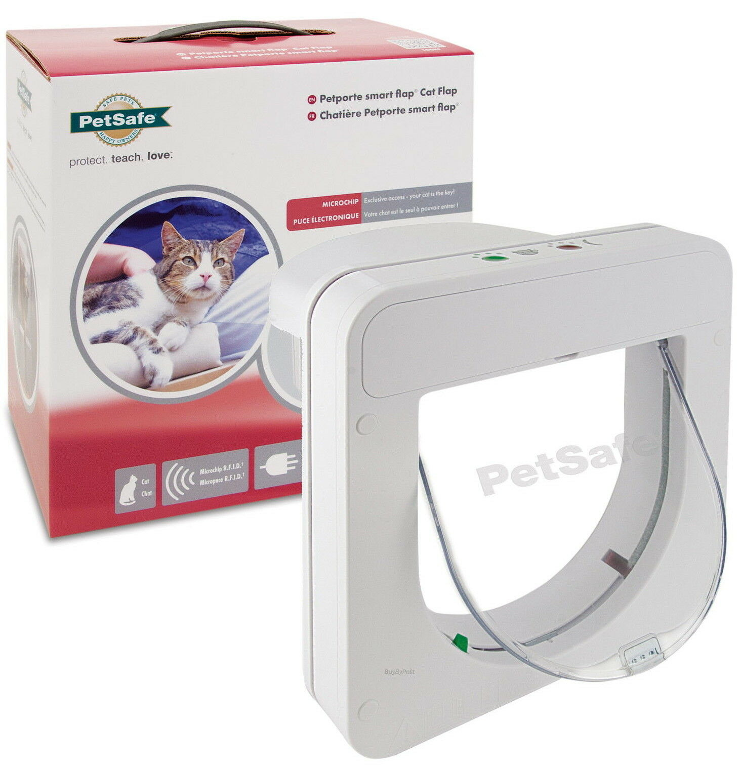 Petsafe Petporte Pet Porte Microchip Cat Flap White Or Brown Micro Chip Tt