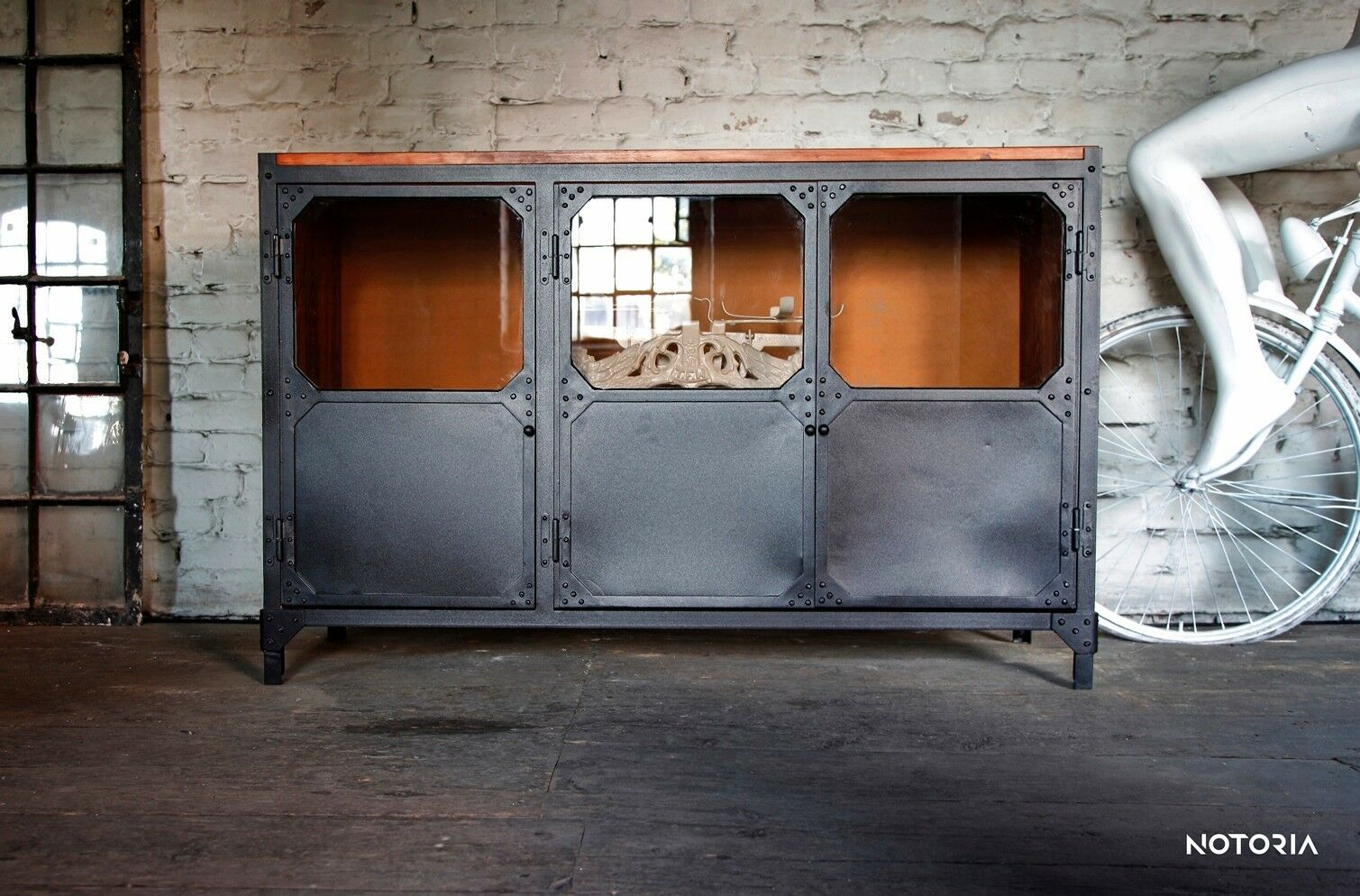 kommode b ffet brooklyn industrial design metall loft sideboard 2 oder 3 t rig. Black Bedroom Furniture Sets. Home Design Ideas