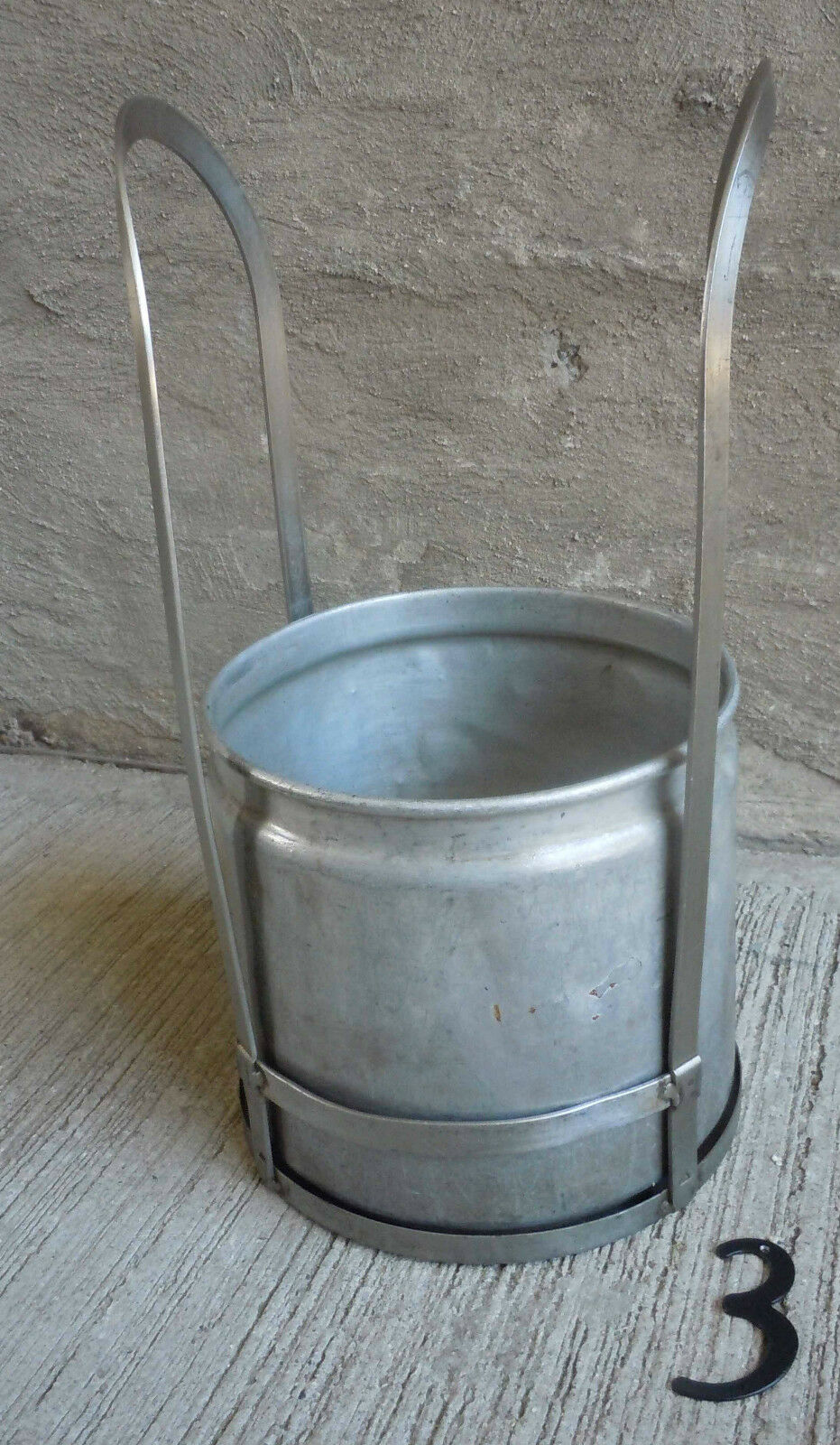 Vintage Stainless Steel Frame and Aluminum Bucket/Pale (#3)