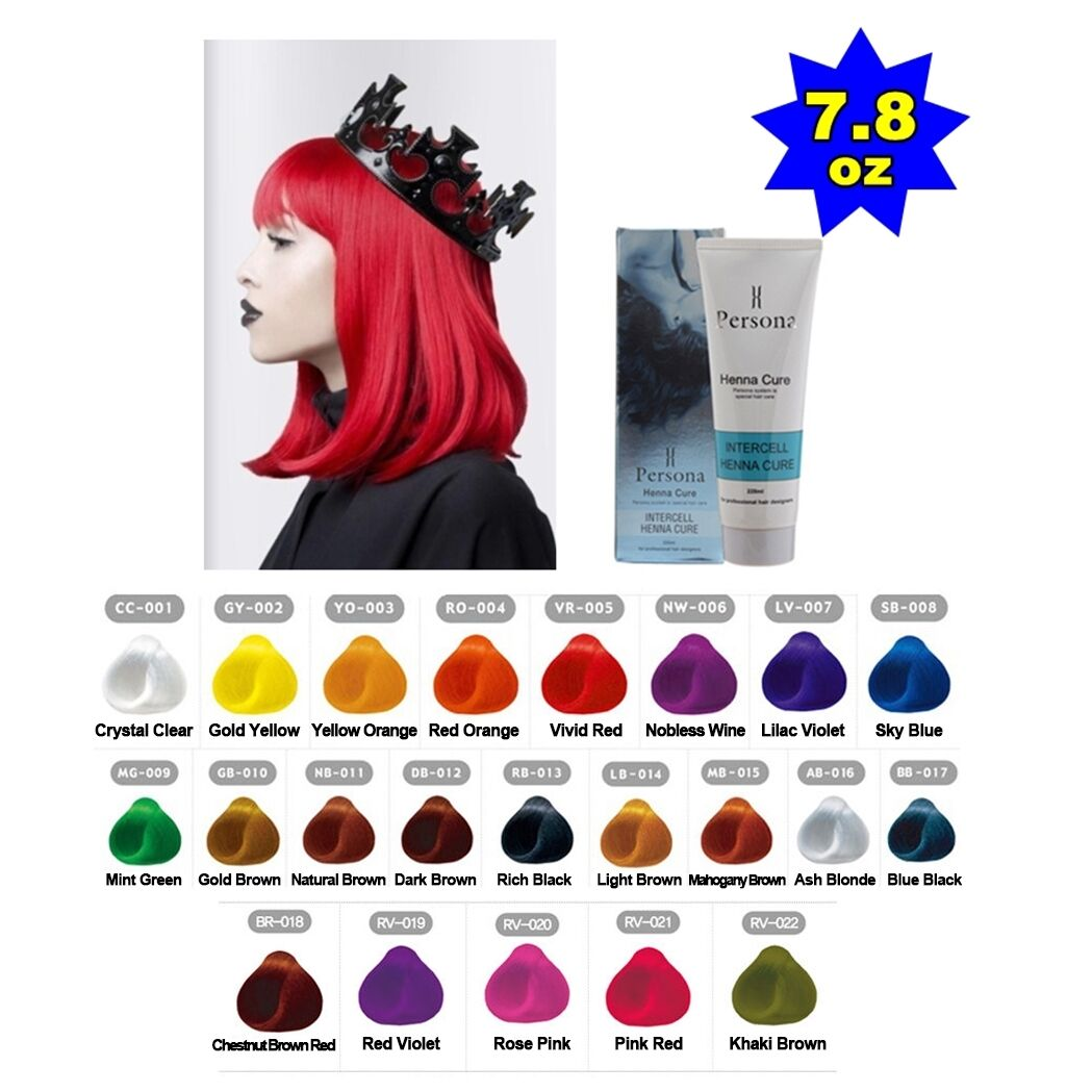 Persona Intercell Henna Cure Semi Permanent Hair Color Dye 78 Oz